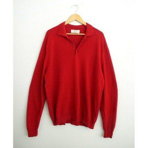 Smith & Telford Mens 100% Cashmere Red Sweater